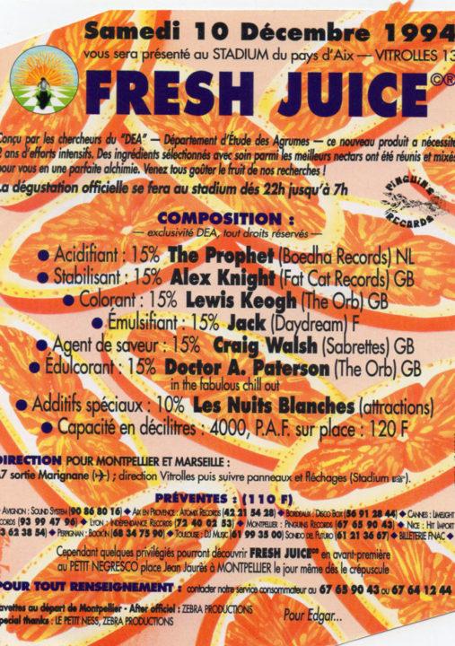 fresh juice avec la paille!